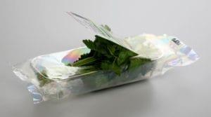 Kräuter in Flowpack mit Laseraufriß-Perforation
