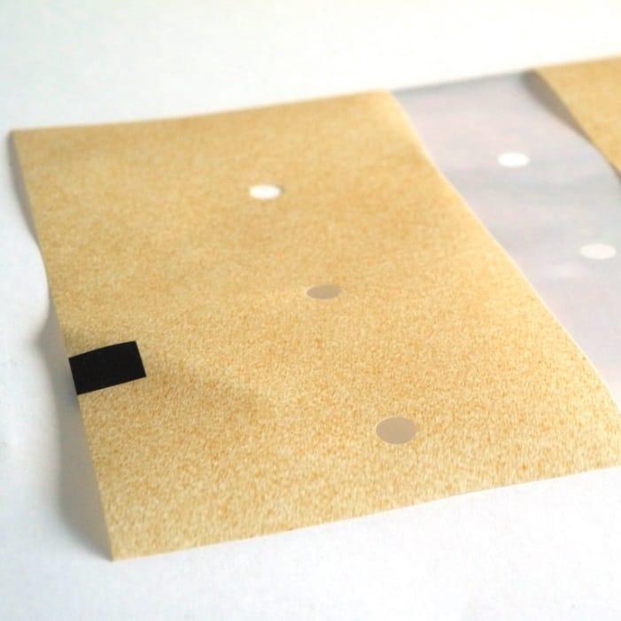 Folie mit gedrucktem Papierlook